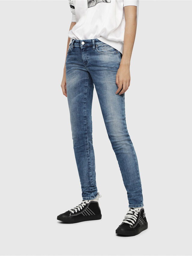 Diesel - Gracey JoggJeans 080AS, Medium blue - Jeans - Image 1