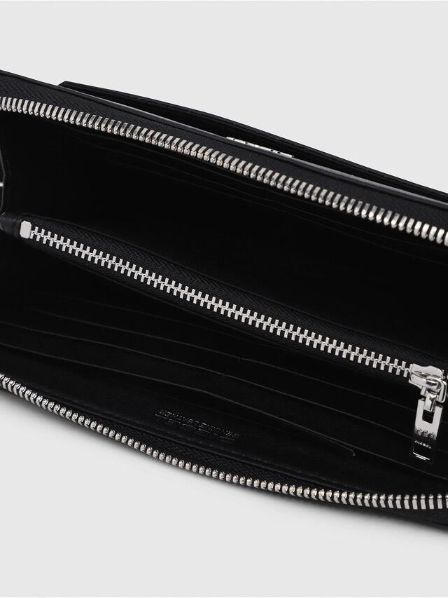Diesel - GRANATO, Black/Grey - Zip-Round Wallets - Image 4