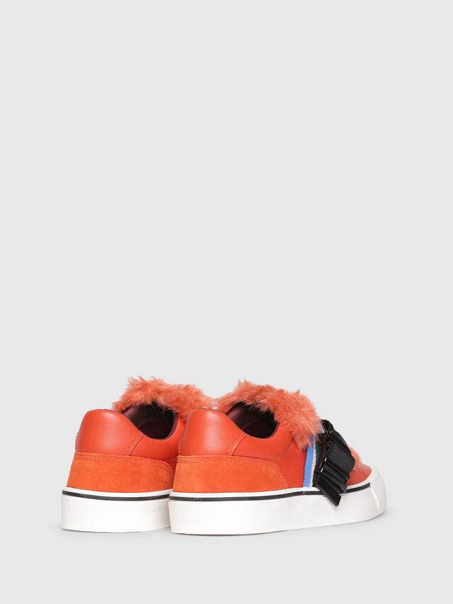 Diesel - S-FLIP LOW BUCKLE W, Orange - Sneakers - Image 3