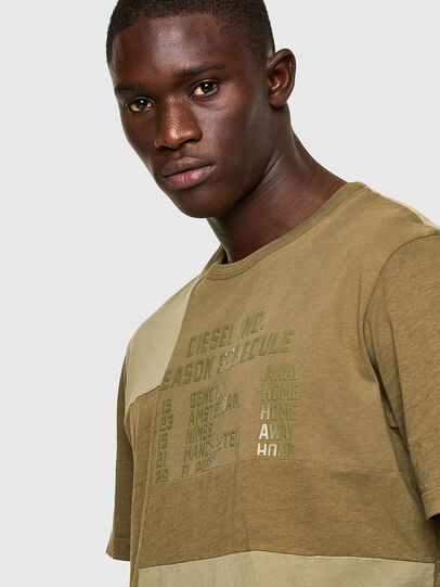 Diesel - T-ATCHWORK, Military Green - T-Shirts - Image 3