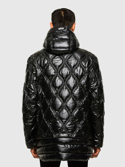 Diesel - W-CRAWFORD-SHINY, Black - Winter Jackets - Image 2