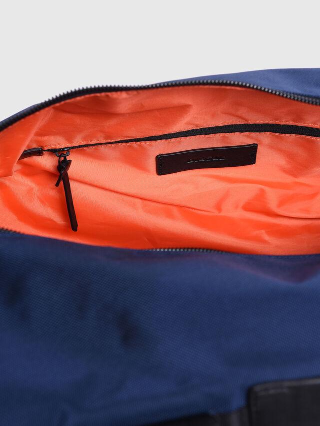 Diesel - M-CAGE DUFFLE M, Blue/Orange - Travel Bags - Image 4