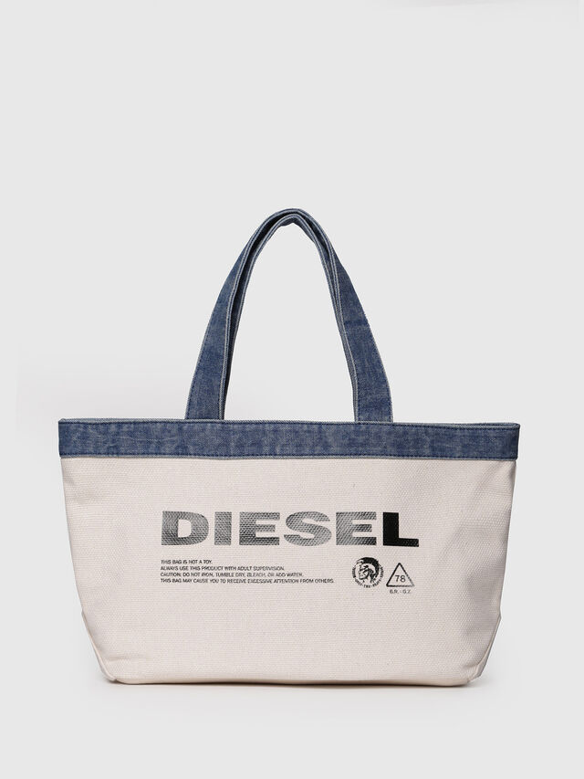 Diesel - F-MHICO SHOPPER M, Cream - Shopping and Shoulder Bags - Image 1