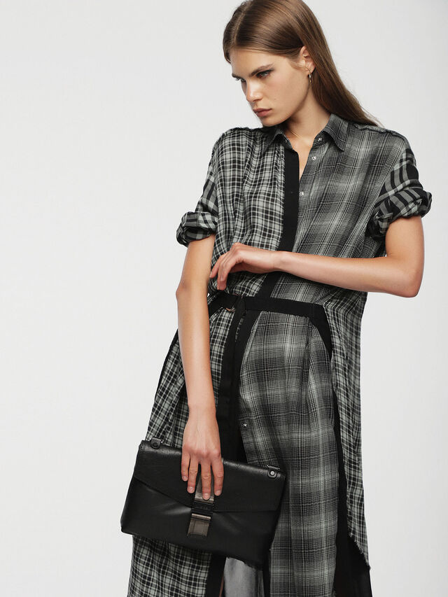 Diesel - MISS-MATCH CLUTCH, Black Leather - Clutches - Image 4