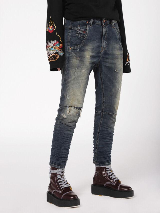 Diesel - Fayza JoggJeans 0699V, Dark Blue - Jeans - Image 1