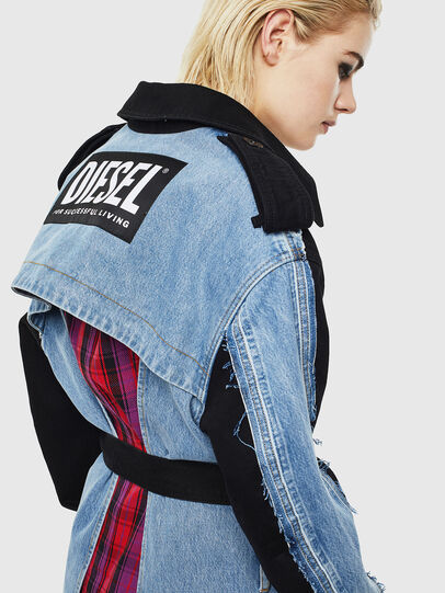 Diesel - DE-PRAVU, Black/Blue - Denim Jackets - Image 6