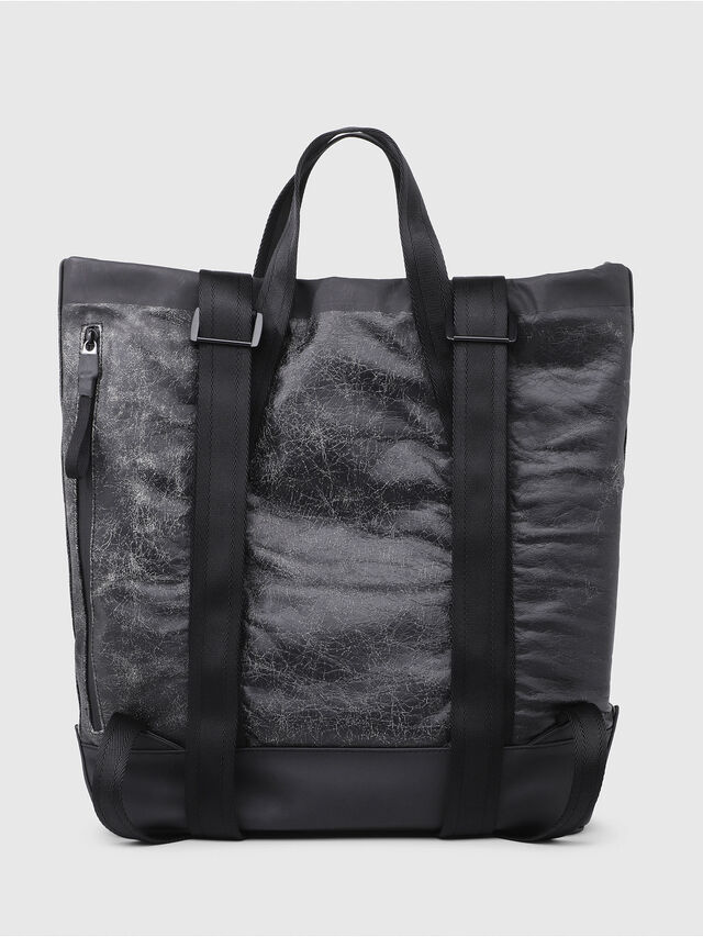 Diesel - VOLPAGO TOTE, Black - Shopping and Shoulder Bags - Image 2