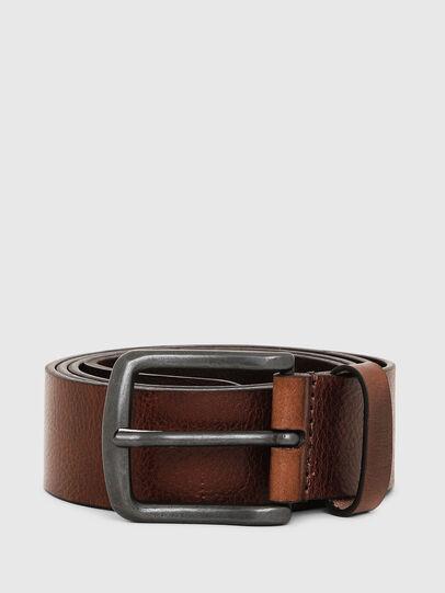 Diesel - B-LINE, Brown Leather - Belts - Image 1