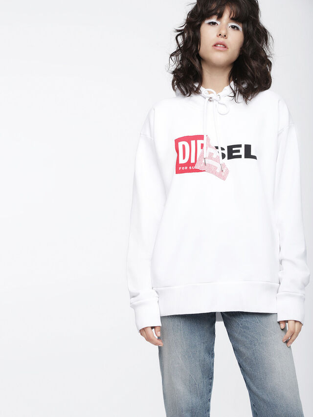 Diesel - F-ALBY-FL-A, White - Sweaters - Image 1