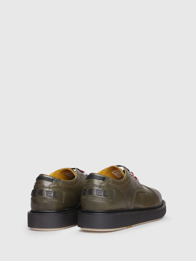 Diesel - D-CAGE DB CT, Olive Green - Lace Ups and Mocassins - Image 3