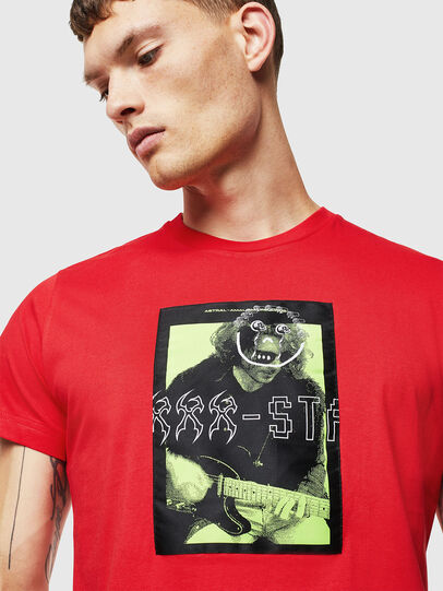 Diesel - T-DIEGO-J1, Red - T-Shirts - Image 3