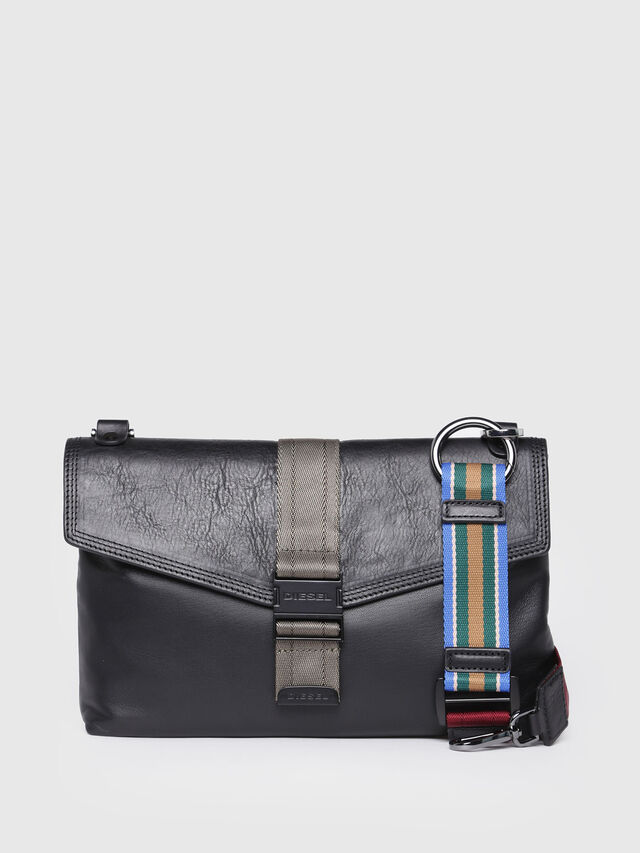Diesel - MISS-MATCH CLUTCH, Black Leather - Clutches - Image 1