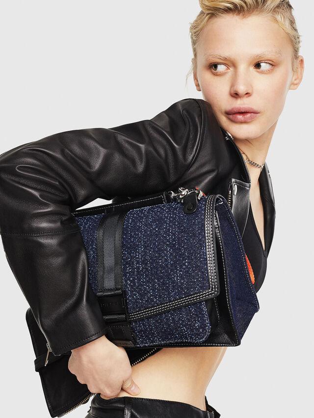 Diesel - MISS-MATCH CROSSBODY, Blue Jeans - Crossbody Bags - Image 6