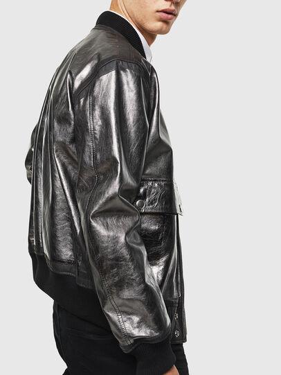 Diesel - L-STEWARD-FOIL, Black - Leather jackets - Image 3