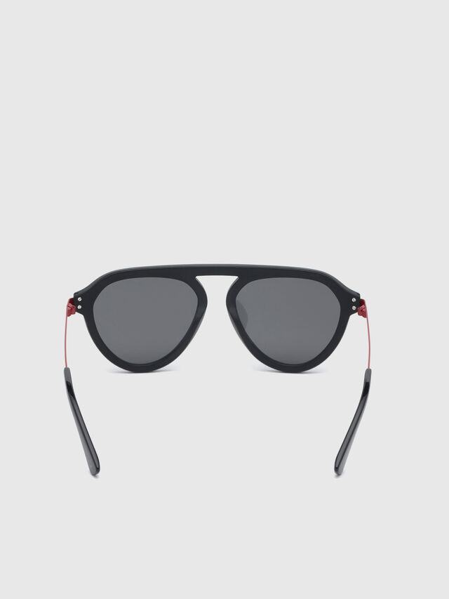 Diesel - DL0277, Black/Red - Eyewear - Image 4
