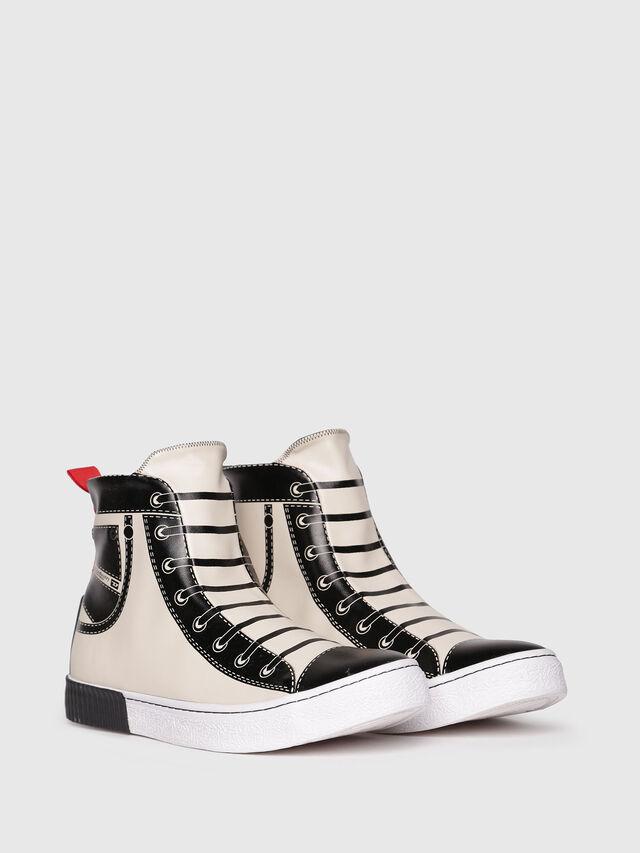 Diesel - S-DIESEL IMAGINEE MID, White/Black - Sneakers - Image 2