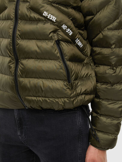 Diesel - W-DWAIN, Military Green - Winter Jackets - Image 4
