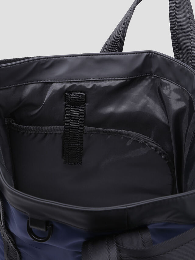 Diesel - VOLPAGO TOTE, Blue/Black - Shopping and Shoulder Bags - Image 3