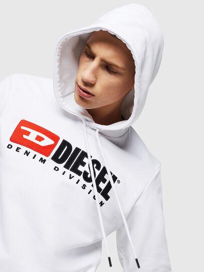 Diesel - S-GIR-HOOD-DIVISION, White - Sweaters - Image 3