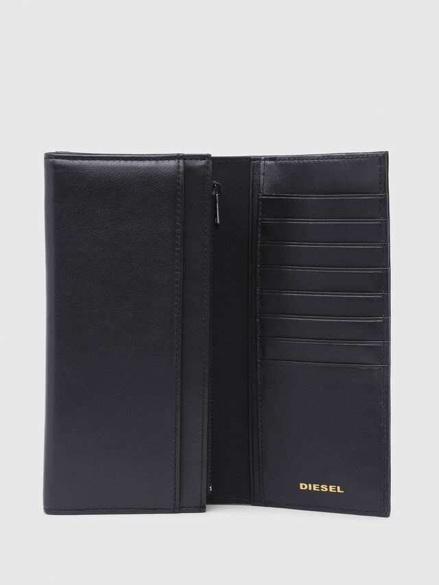 Diesel - 24  A DAY, Gray/Black - Continental Wallets - Image 3