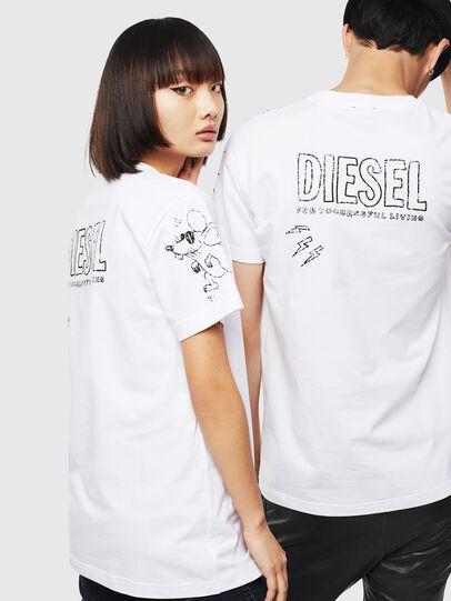 Diesel - CL-T-DIEGO-3, White - T-Shirts - Image 3