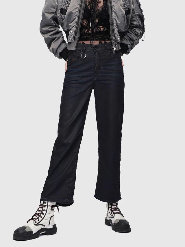 Diesel - Widee JoggJeans 0688U, Black/Dark grey - Jeans - Image 1