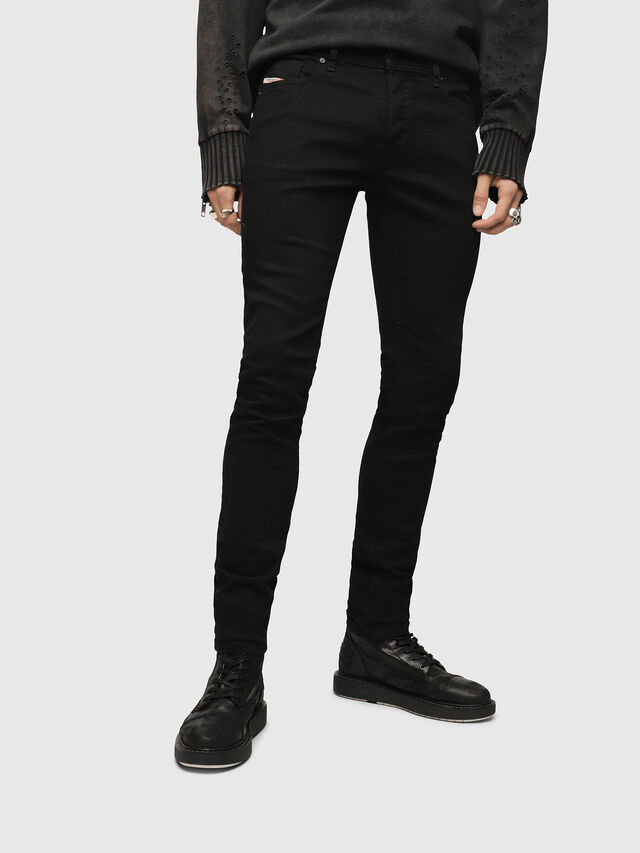 Diesel Sleenker 0886Z, Black/Dark grey - Jeans - Image 1