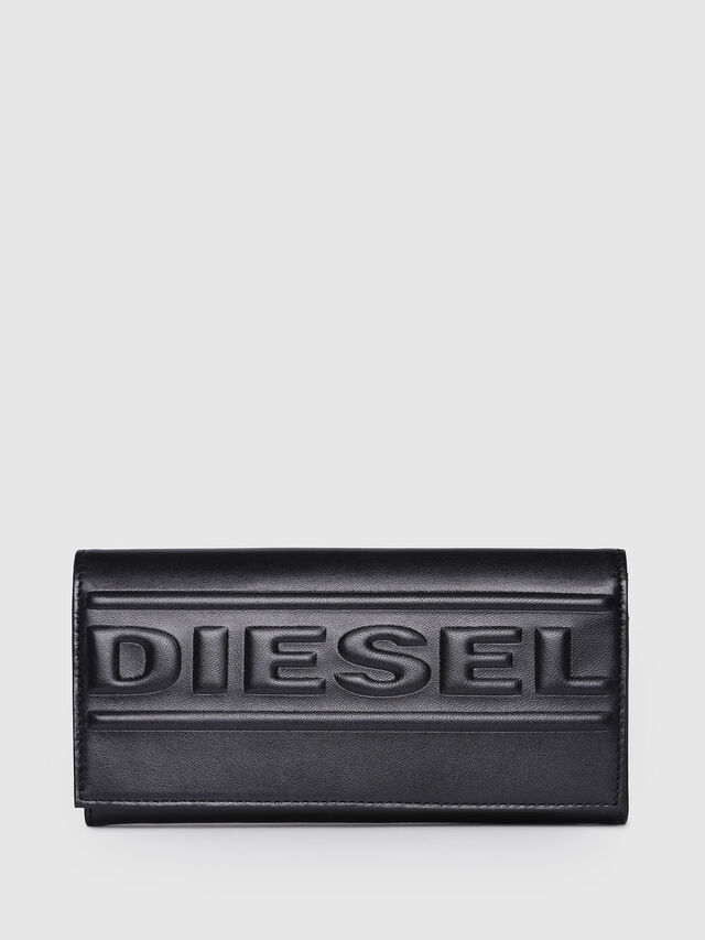 Diesel - 24 A DAY P, Black/Yellow - Continental Wallets - Image 1