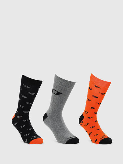 Diesel - SKM-RAY-THREEPACK, Black/Orange - Socks - Image 1