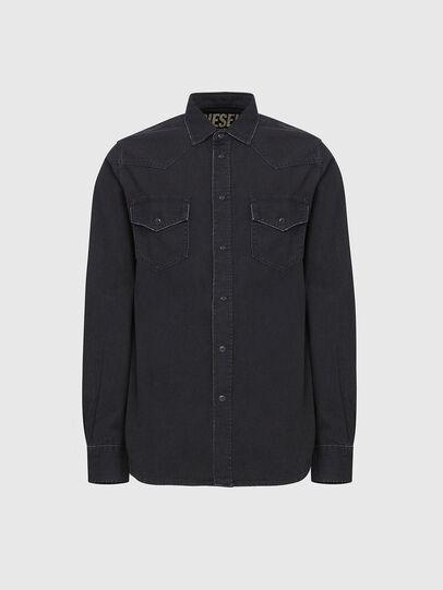 Diesel - D-EAST-P, Black - Denim Shirts - Image 1