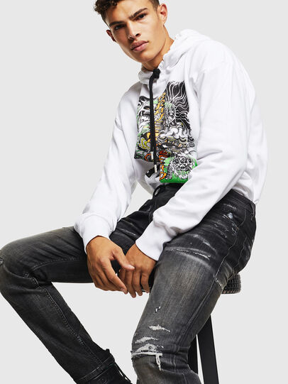 Diesel - Thommer JoggJeans 0098E, Black/Dark grey - Jeans - Image 5