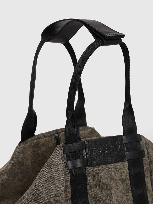 Diesel - D-CAGE SHOPPER, Grey Jeans - Shopping and Shoulder Bags - Image 4