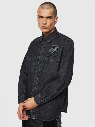 Diesel - D-BANDY-B, Black - Denim Shirts - Image 1