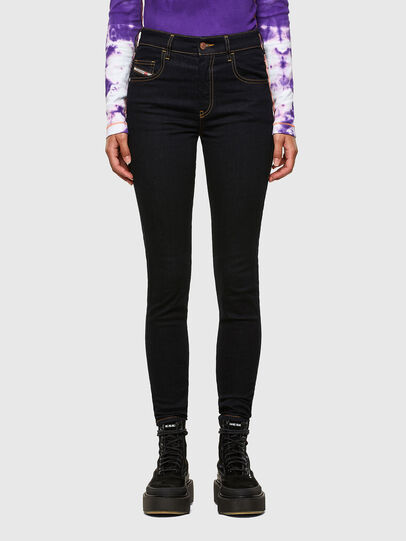 Diesel - Slandy High 009CW, Dark Blue - Jeans - Image 1