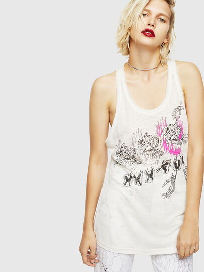 Diesel - T-KELLY-A, White - Tops - Image 1