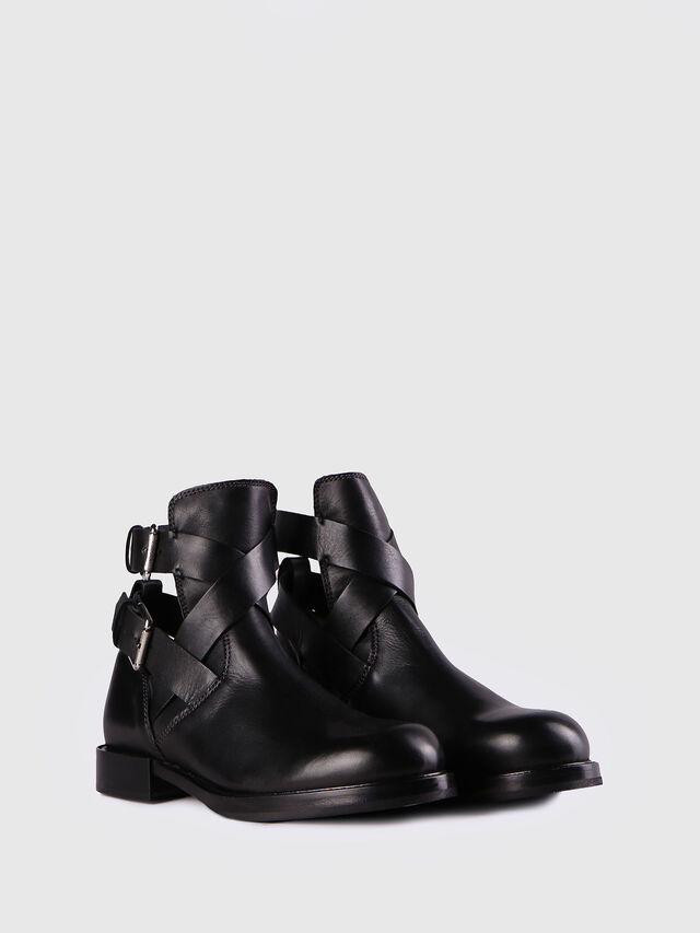 Diesel - D-KOMB BOOT FOB, Black Leather - Ankle Boots - Image 2
