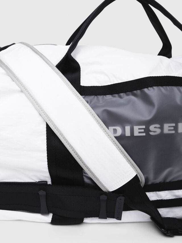 Diesel - M-CAGE DUFFLE M, White/Black - Travel Bags - Image 4