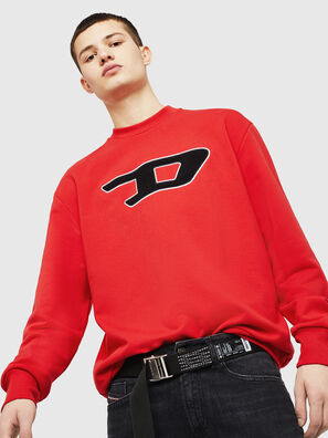 S-CREW-DIVISION-D, Fire Red - Sweaters