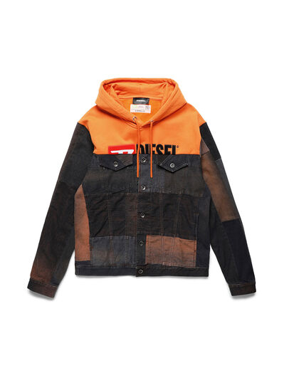 Diesel - D-BNHILL55, Orange - Denim Jackets - Image 1