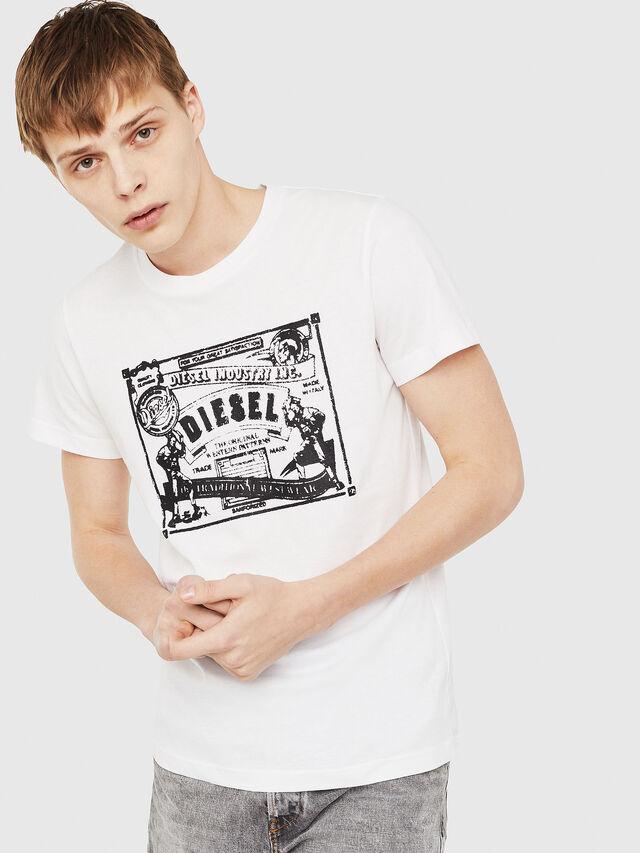 e8e082edb48 T-DIEGO-C3 Men  Regular-slim T-shirt in blackandwhite
