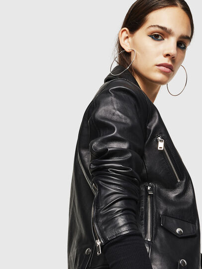 Diesel - L-LYFA, Black - Leather jackets - Image 5