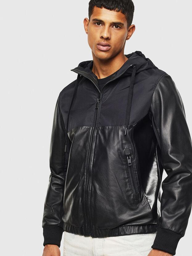 L-CARRS, Black - Leather jackets