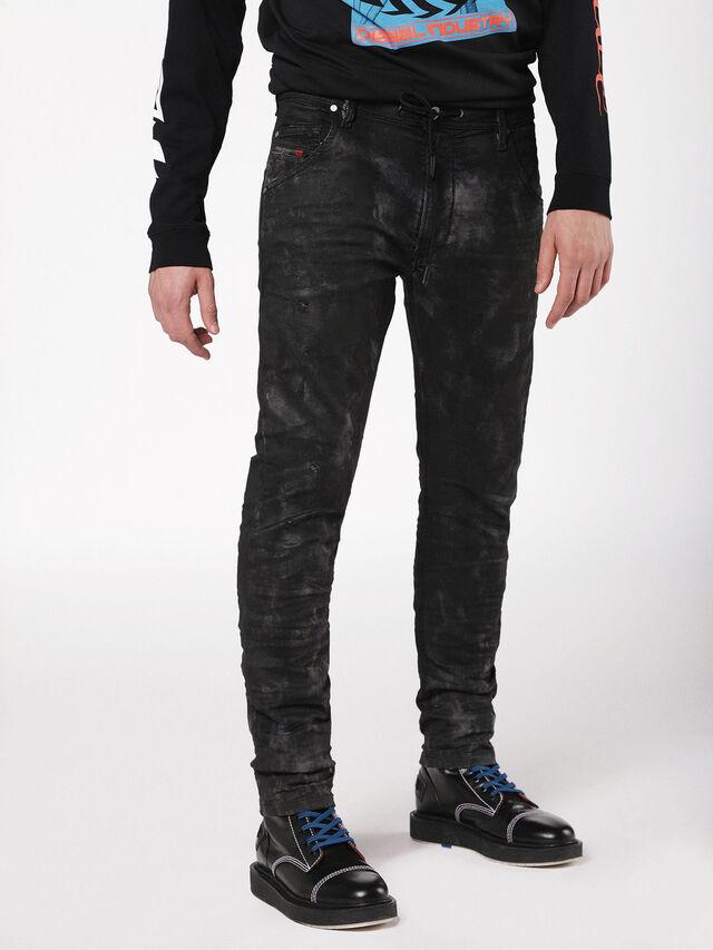 Diesel - Krooley JoggJeans 069AS, Black/Dark grey - Jeans - Image 3