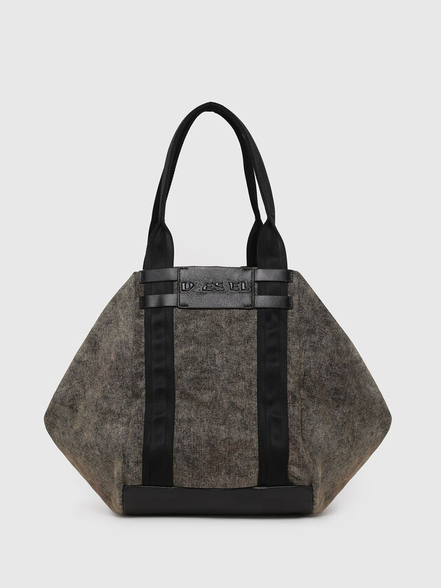 Diesel - D-CAGE SHOPPER, Grey Jeans - Shopping and Shoulder Bags - Image 1