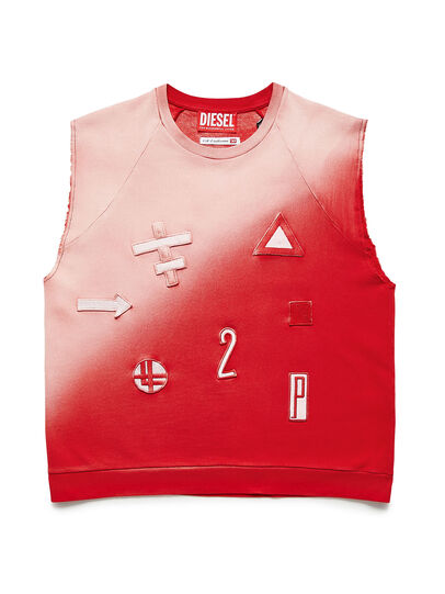 Diesel - GR02-T303, Red/White - T-Shirts - Image 1