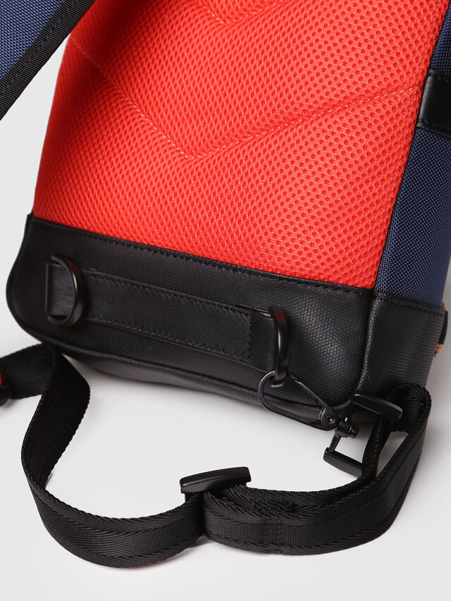 Diesel - M-CAGE MONO, Blue/Orange - Backpacks - Image 6