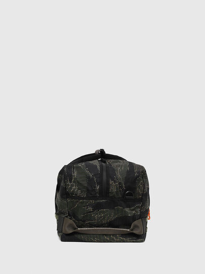 Diesel - M-CAGE DUFFLE M, Black/Green - Travel Bags - Image 3