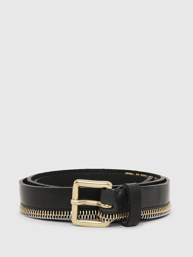 Diesel B-ZIPPER, Black - Belts - Image 1