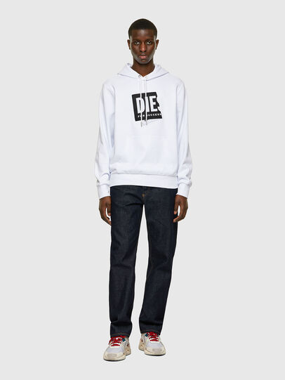 Diesel - S-GIRK-HOOD-LAB, White - Sweaters - Image 4