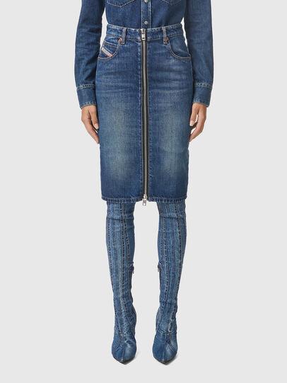 Diesel - DE-PENCIL-ZIP, Medium blue - Skirts - Image 1
